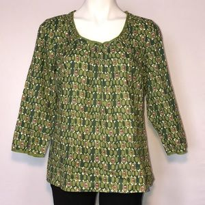 Boden green with circle design top